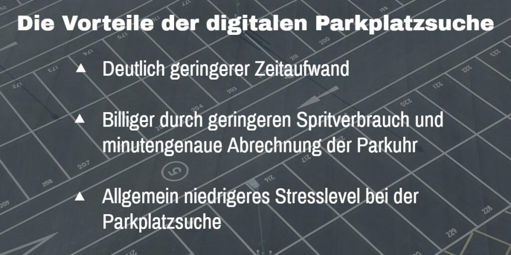 Digital Parkplaetze Vorteile