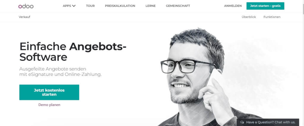 Digitales Angebotsmanagement Odoo