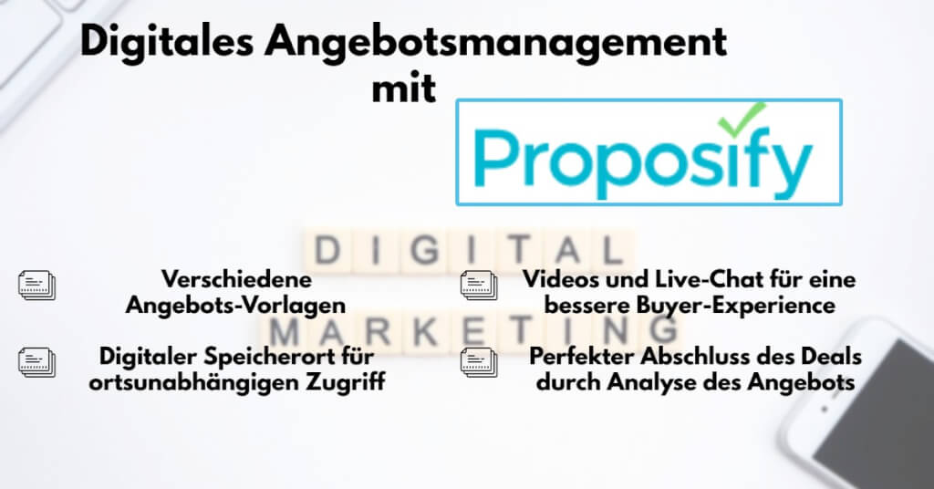 Digitales Angebotsmanagement Proposify Features