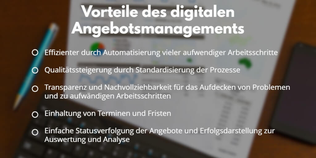 Digitales Angebotsmanagement Vorteile