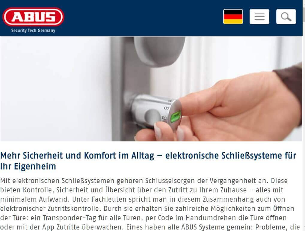 Digitales Schloss Abus