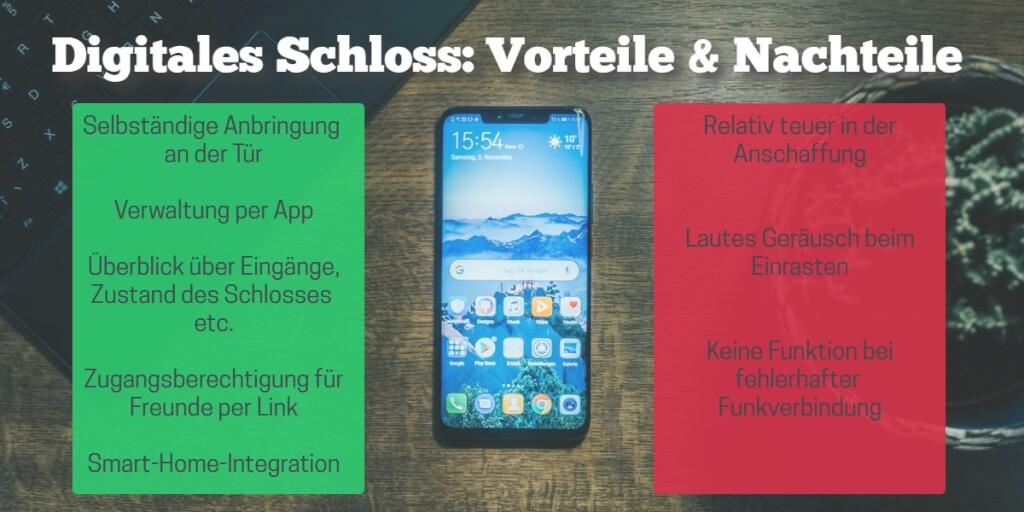 Digitales Schloss Vorteile Nachteile