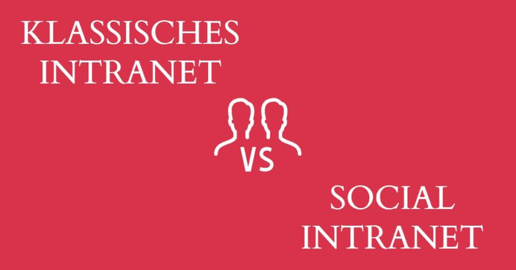 Eyecatcher klassisch vs Social Intranet
