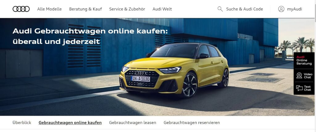 Gebrauchtwagen online Audi