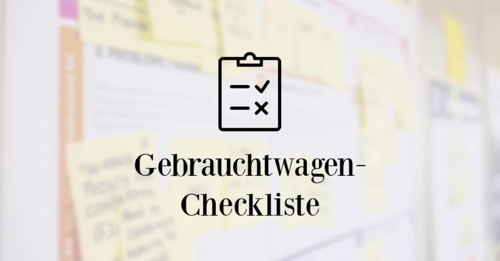Gebrauchtwagen online Eyecatcher Checkliste