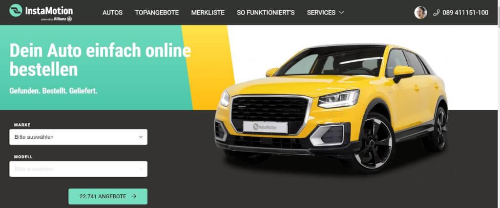 Gebrauchtwagen online InstaMotion