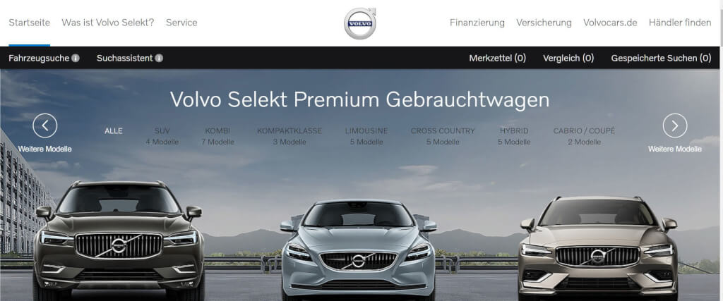 Gebrauchtwagen online Volvo