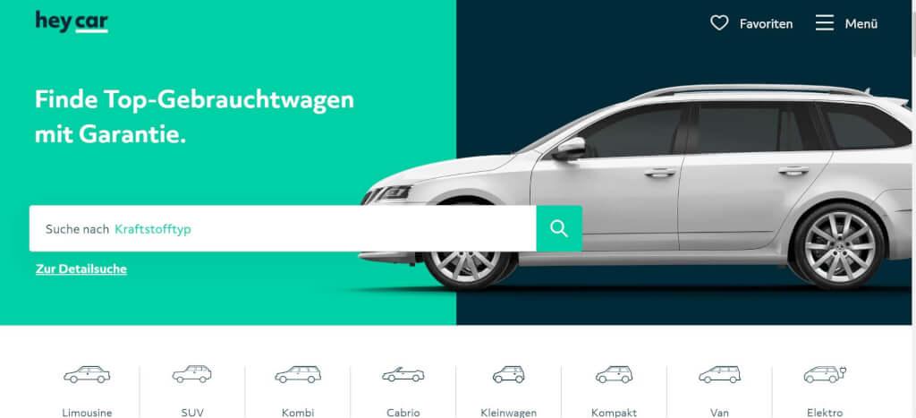 Gebrauchtwagen online heycar