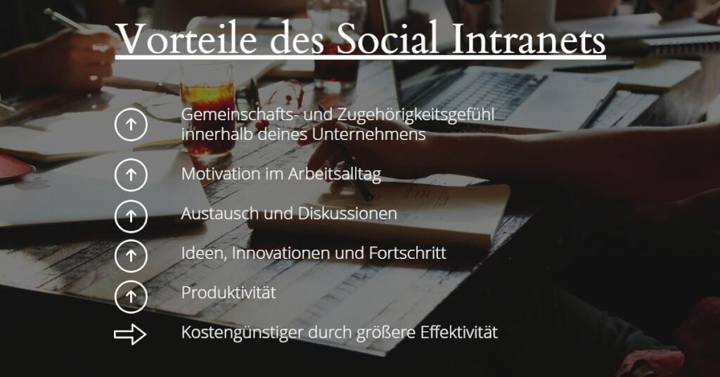 Grafik Vorteile Social Intranet