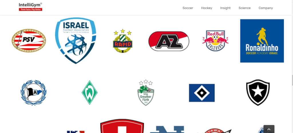 Innovative Trainingsgeraete Fussball IntelliGym Logos