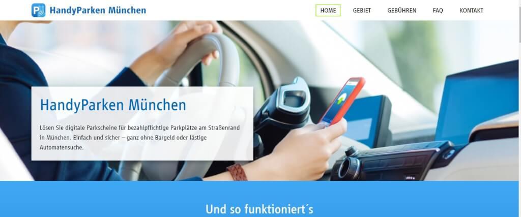 Parkplatz App HandyParken Muenchen