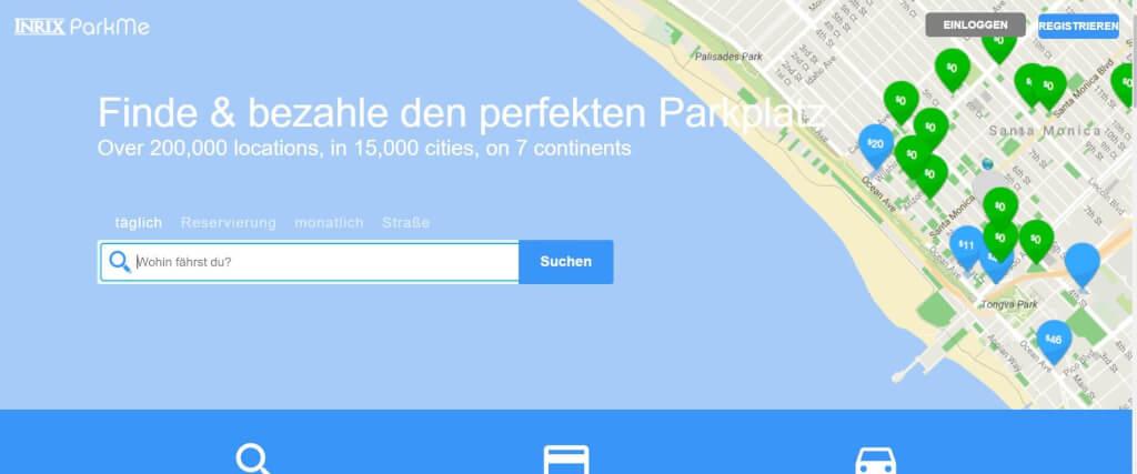 Parkplatz App ParkMe