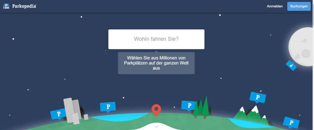 Parkplatz App Parkopedia