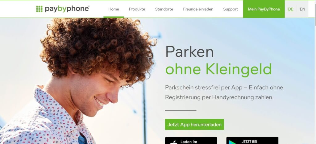 Parkplatz App PayByPhone