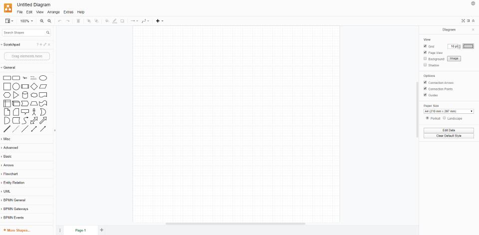 mindmapping tools drawio startseite