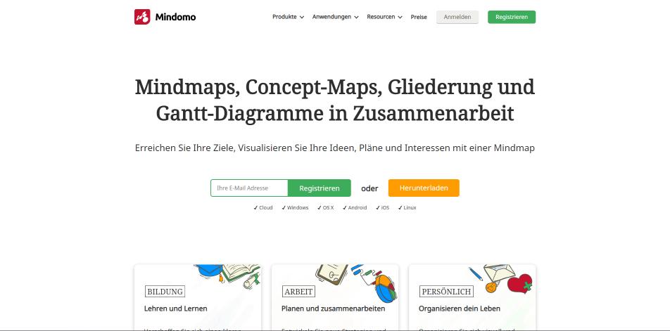 mindmapping tools mindomo startseite