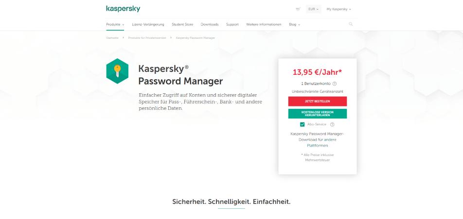 passwort manager kaspersky startseite