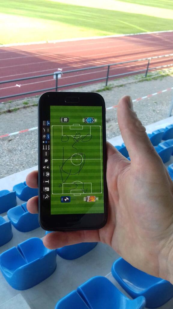 Fussballtrainer App tactical pad tribuene 1
