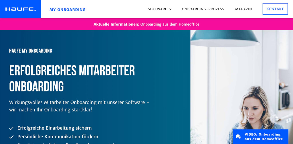 Onboarding Software HR Tools fuer neue Mitarbeiter Haufe myOnboarding Digital Affin