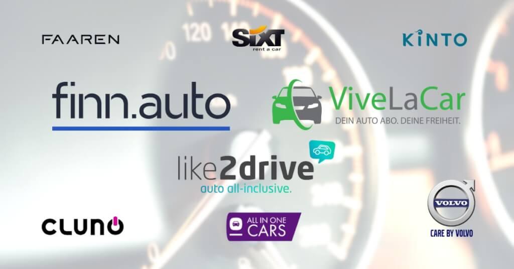 Auto Abo Zusatzfahrer Anbieter