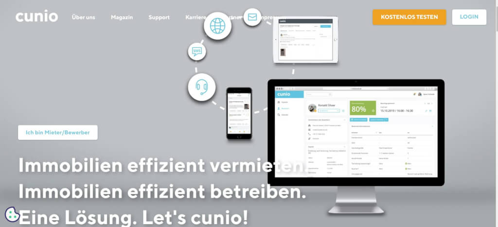 Vermietung digitalisieren cunio