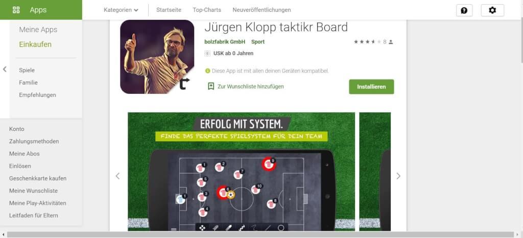 Virtuelle Taktiktafel taktikr Board