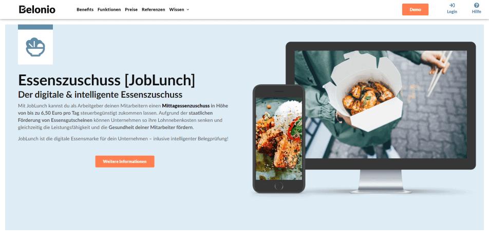 online kantine online catering essenszuschuss belonio