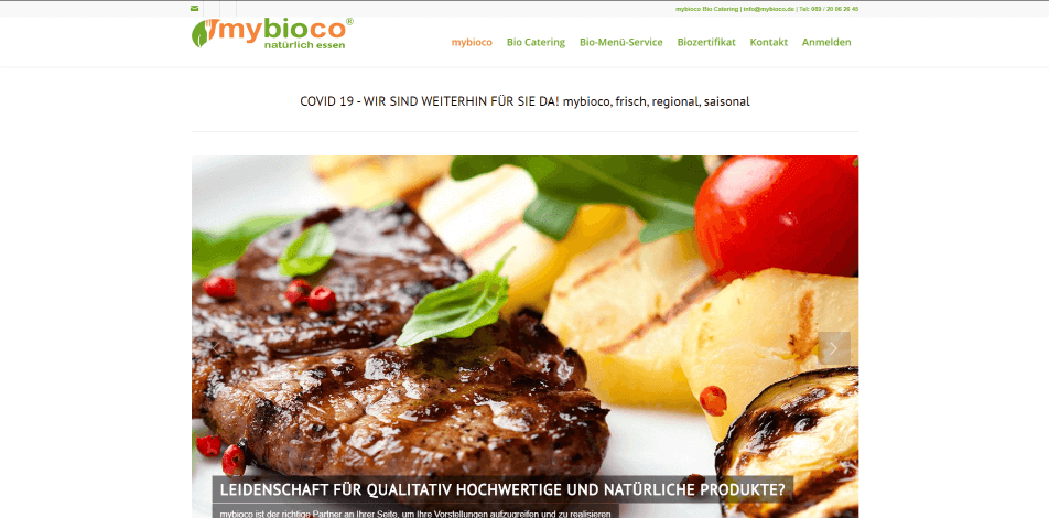 online kantine online catering mybioco