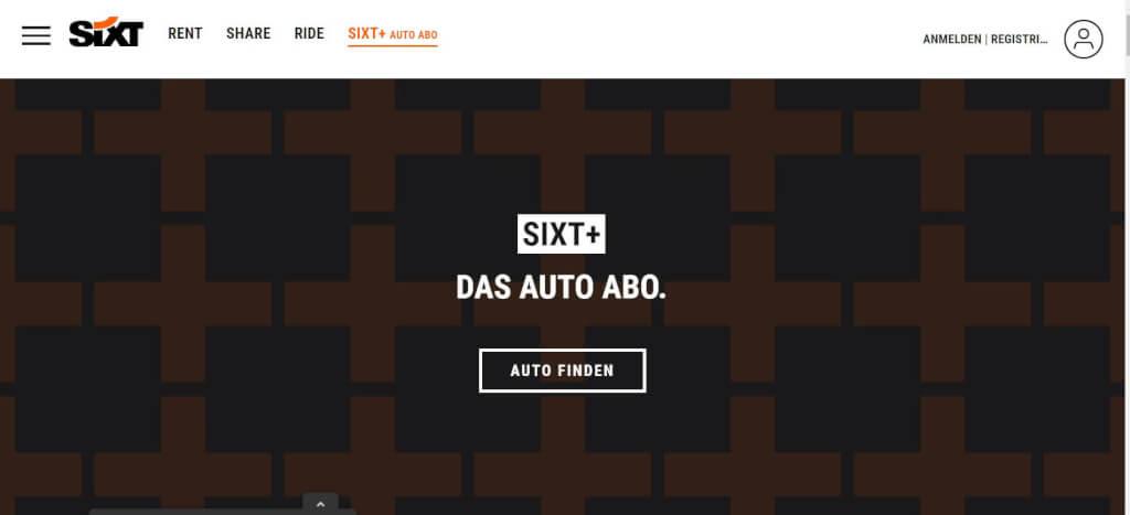 Auto Abo Sixt plus