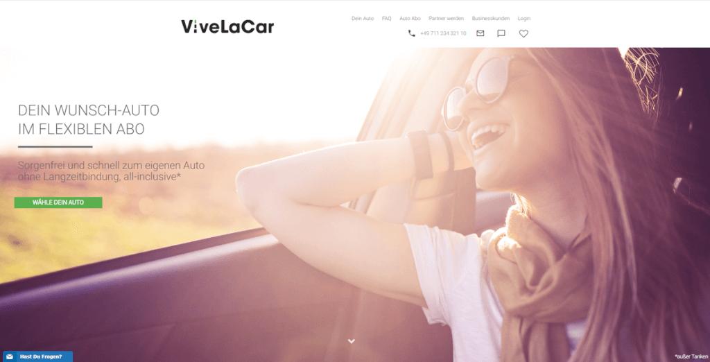 Startseite ViveLaCar Auto ABo Anbieter
