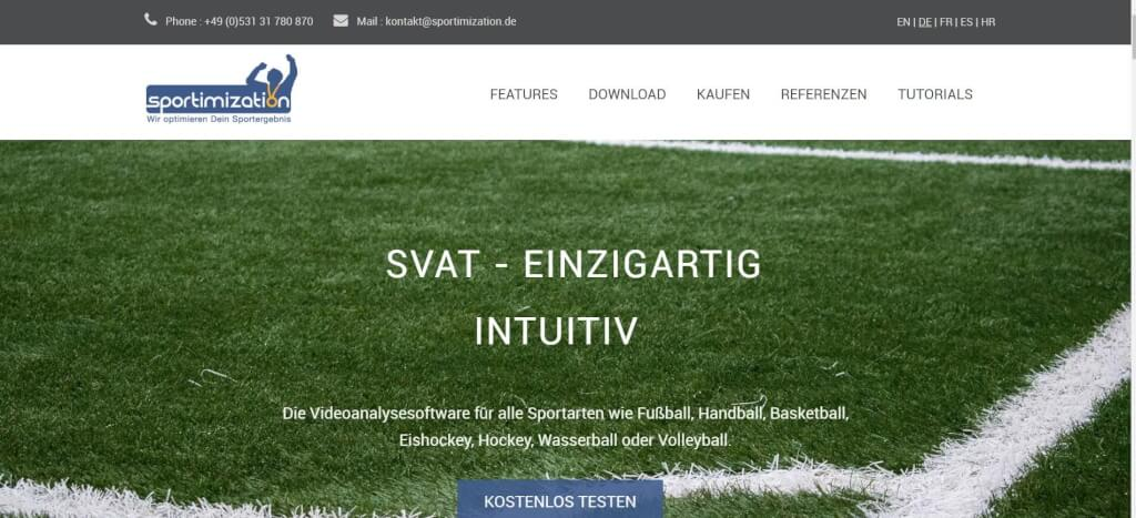 Videoanalysesoftware Fussball sportimization