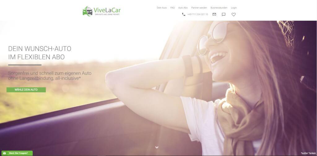 Vive la car Screenshot Startseite