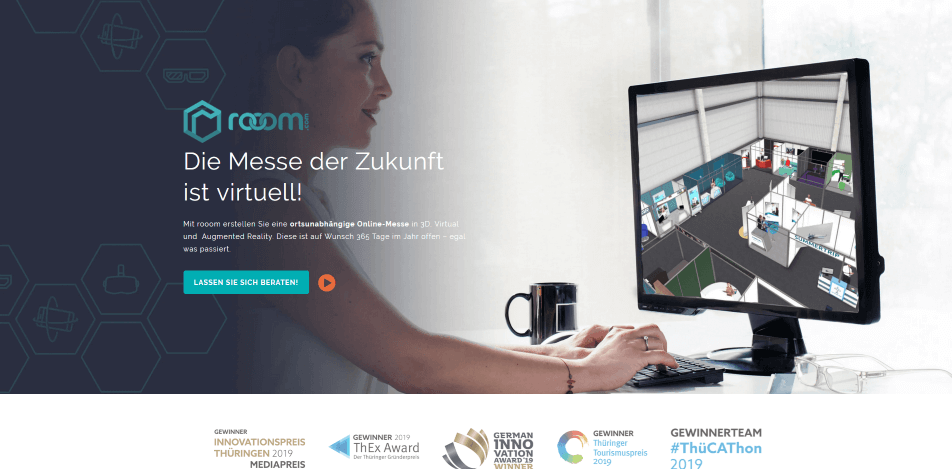 online messe virtuelle messe software rooom