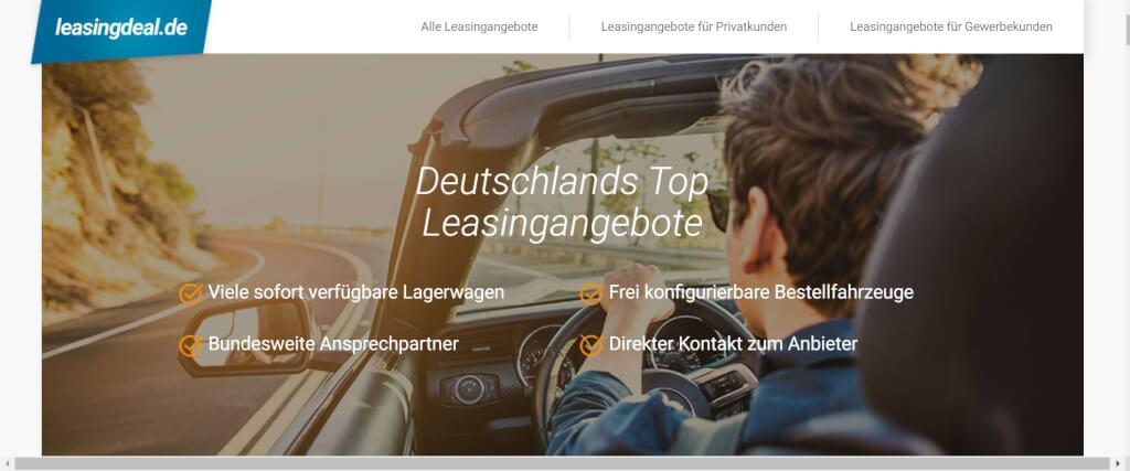 Auto Leasing Vergleich Leasingdeal