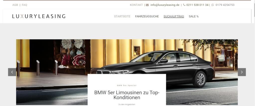Auto Leasing Vergleich LuxuryLeasing