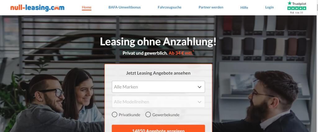 Auto Leasing Vergleich Null Leasing