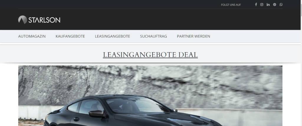 Auto Leasing Vergleich STARLSON