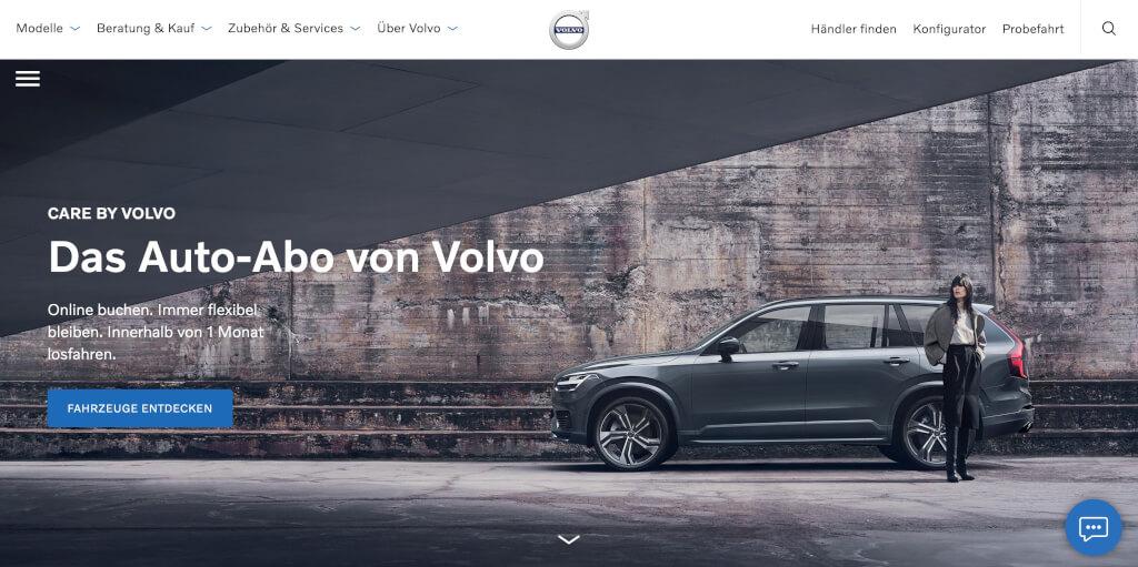 Care by Volvo I Das Auto Abo auf Digital Affin