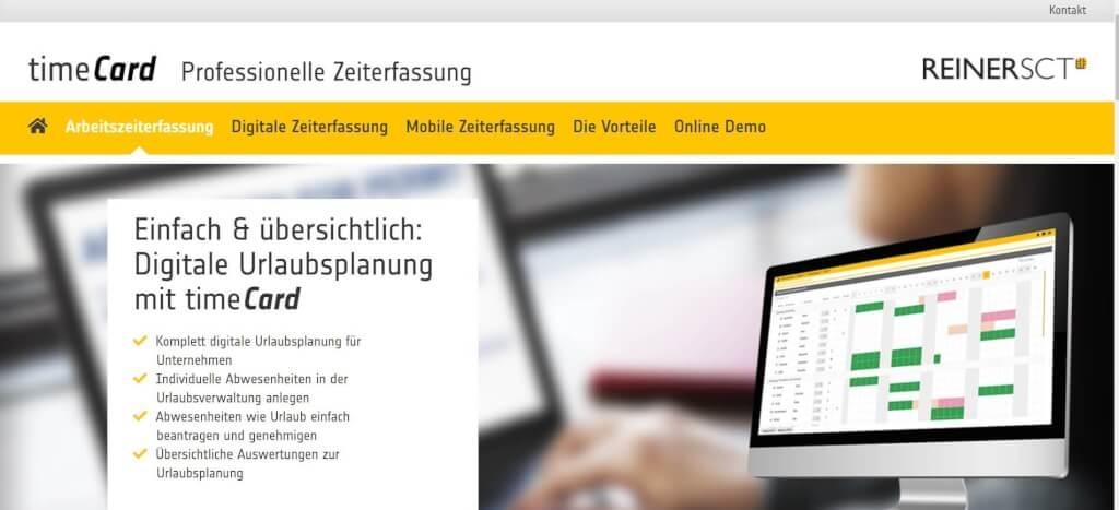 Digitale Urlaubsverwaltung REINER SCT timeCard