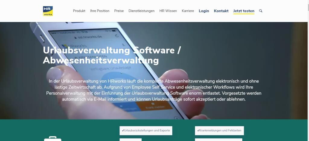 HR works Digitale Urlaubsverwaltung