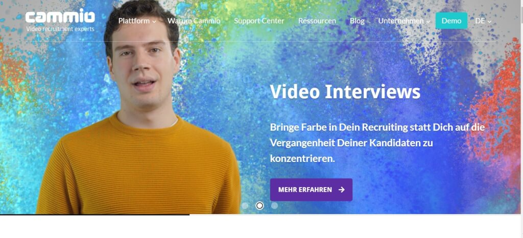 Video Interview Bewerbung Cammio