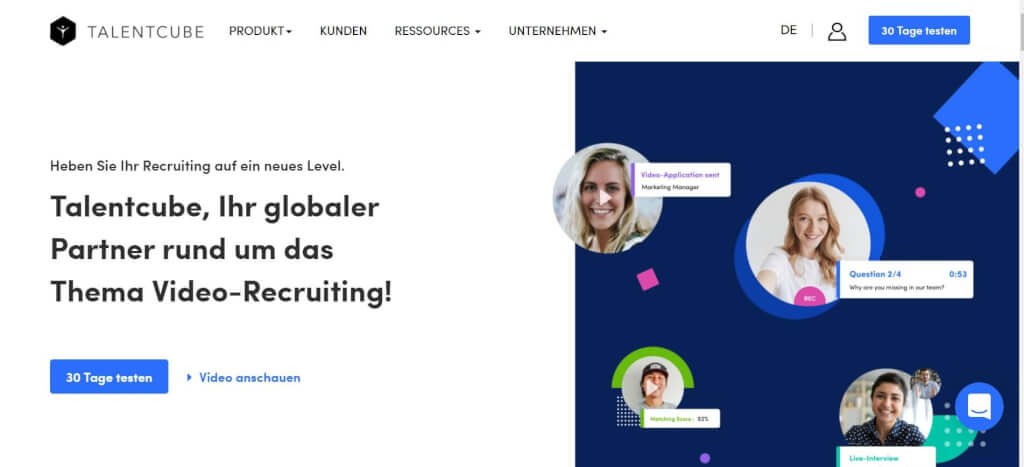 Video Interview Bewerbung TALENTCUBE