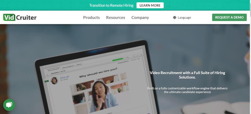 Video Interview Bewerbung VidCruiter