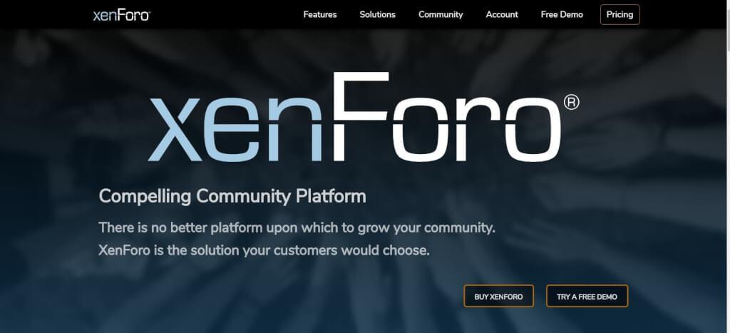 Moderne Forum Software XenForo