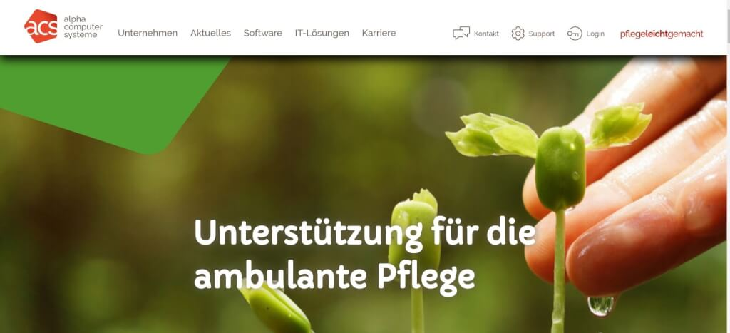 Pflege digitalisieren Acs ambulance