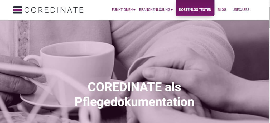Pflege digitalisieren COREDINATE