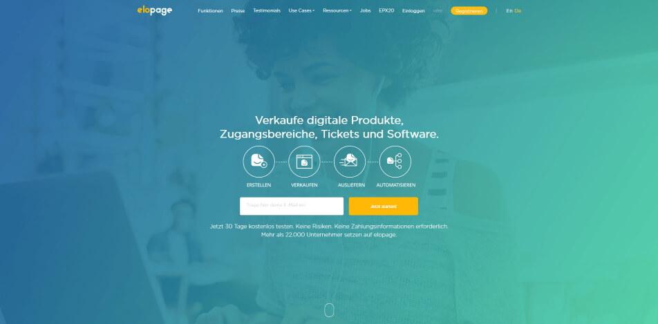 digitale produkte verkaufen plattform elopage