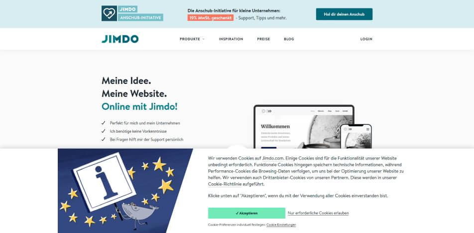 digitale produkte verkaufen plattform jimdo