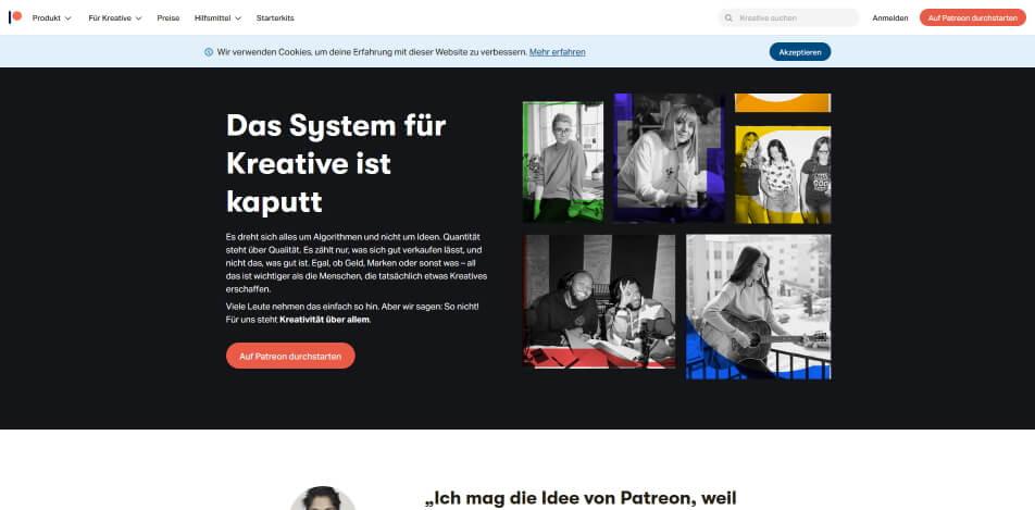 digitale produkte verkaufen plattform patreon