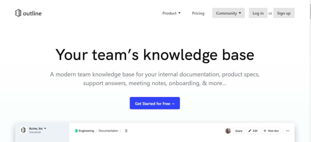 Knowledge Base Software Outline